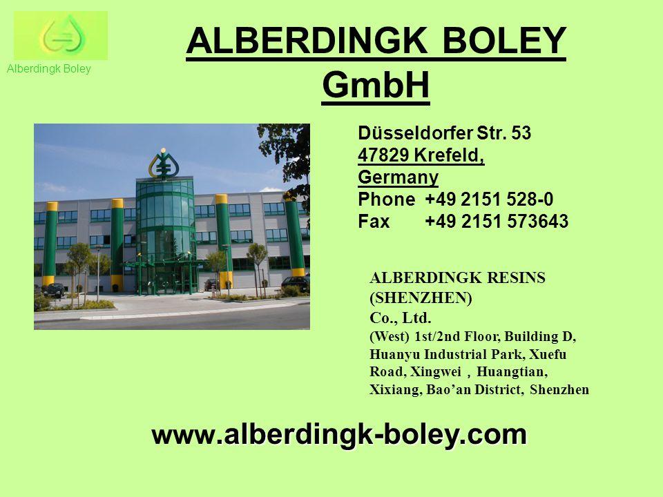 ALBERDINGK BOLEY GmbH.alberdingk-boley.com www.alberdingk-boley.com Düsseldorfer Str. 53 47829 Krefeld, Germany Phone +49 2151 528-0 Fax +49 2151 5736