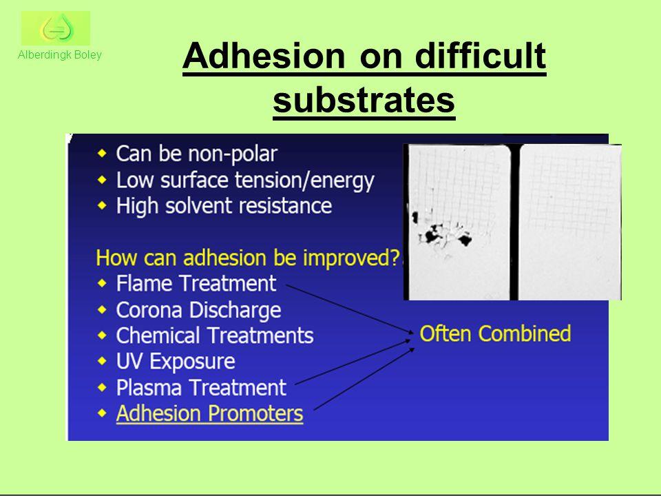 Adhesion on difficult substrates Alberdingk Boley