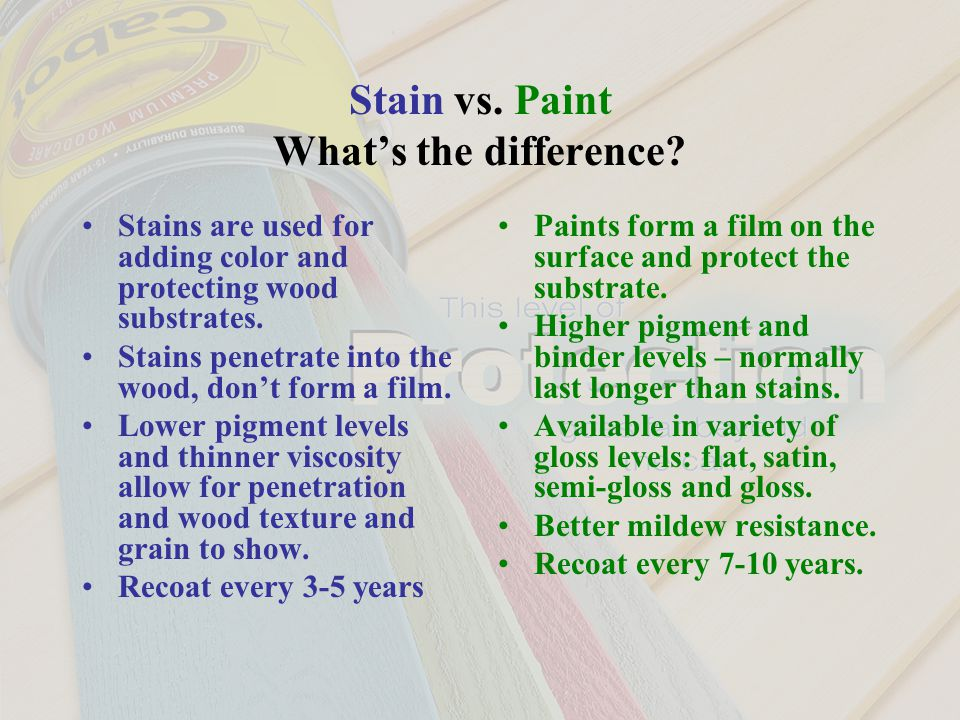 Stain vs. Paint What's the difference.