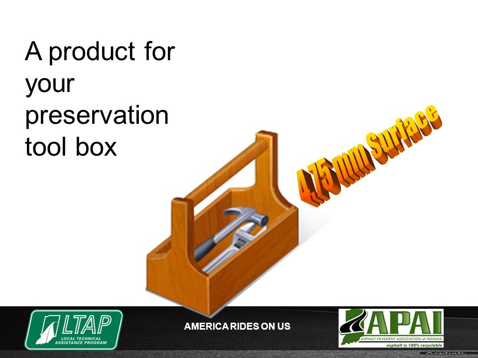 AMERICA RIDES ON US A product for your preservation tool box