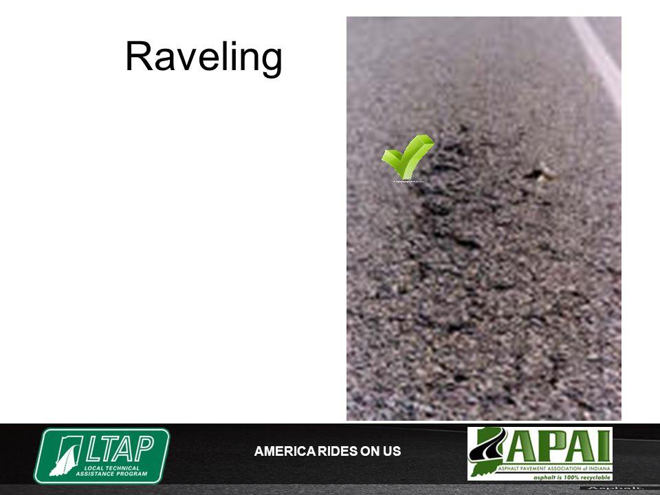 AMERICA RIDES ON US Raveling