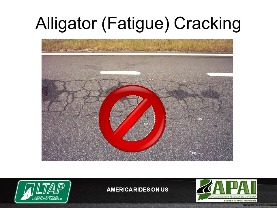 AMERICA RIDES ON US Alligator (Fatigue) Cracking