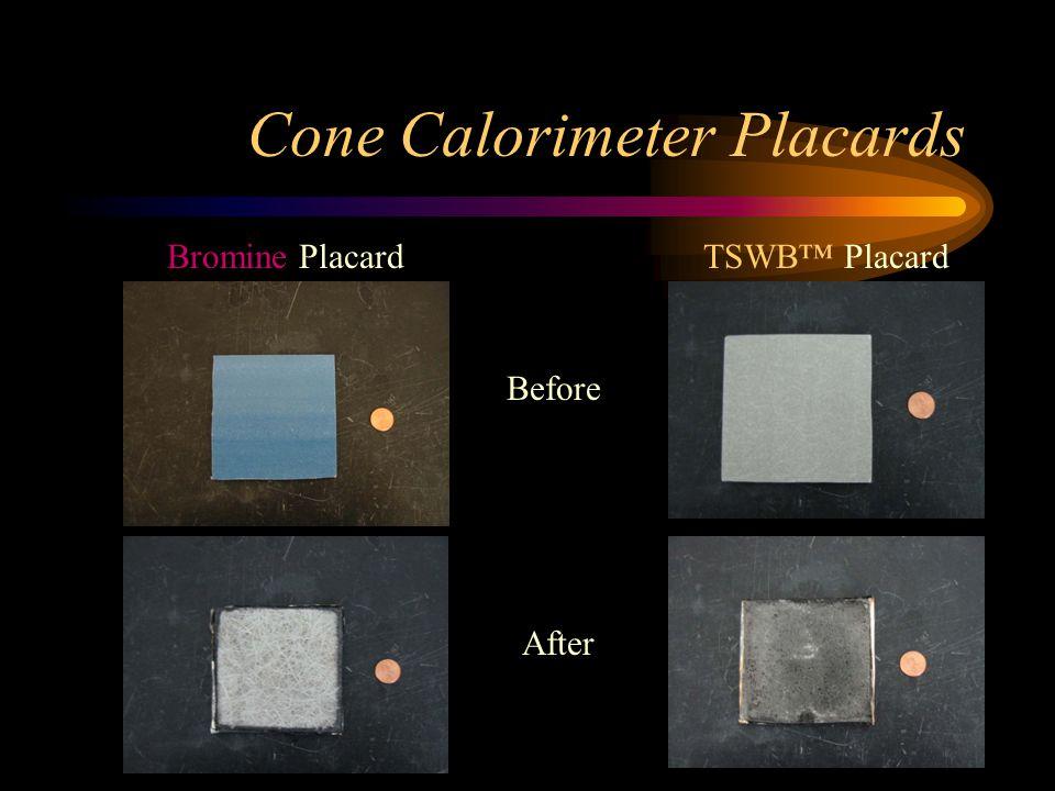 Cone Calorimeter Placards Before After Bromine PlacardTSWB™ Placard