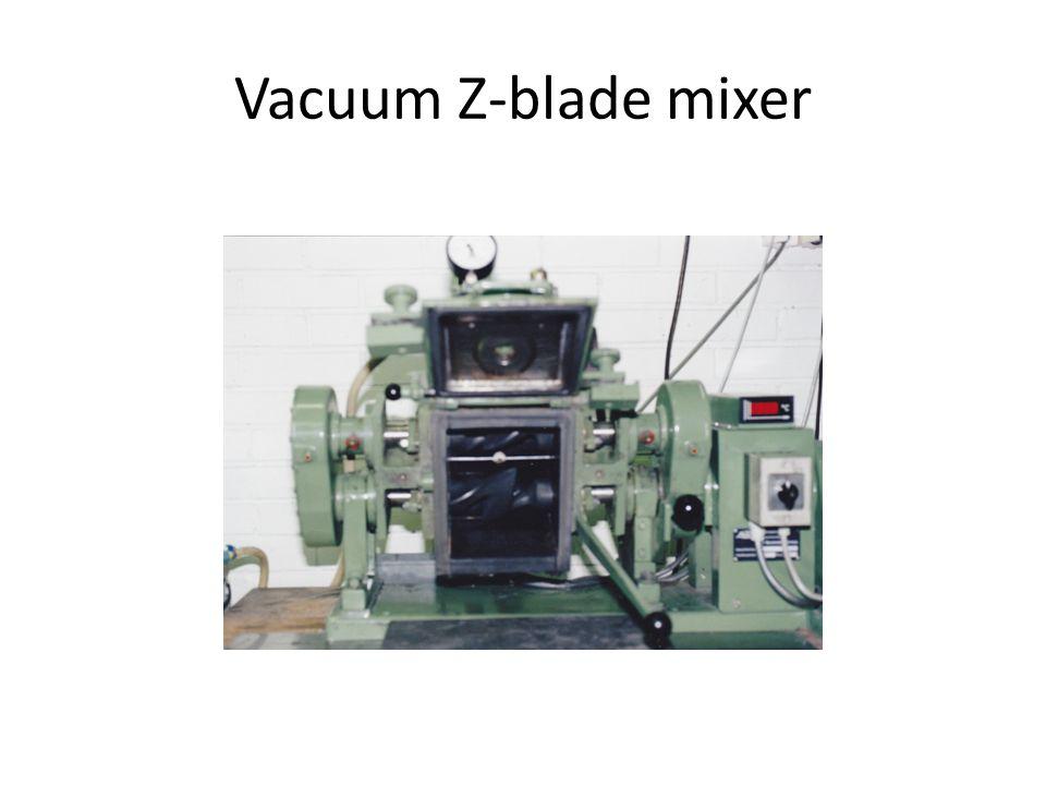 Vacuum Z-blade mixer