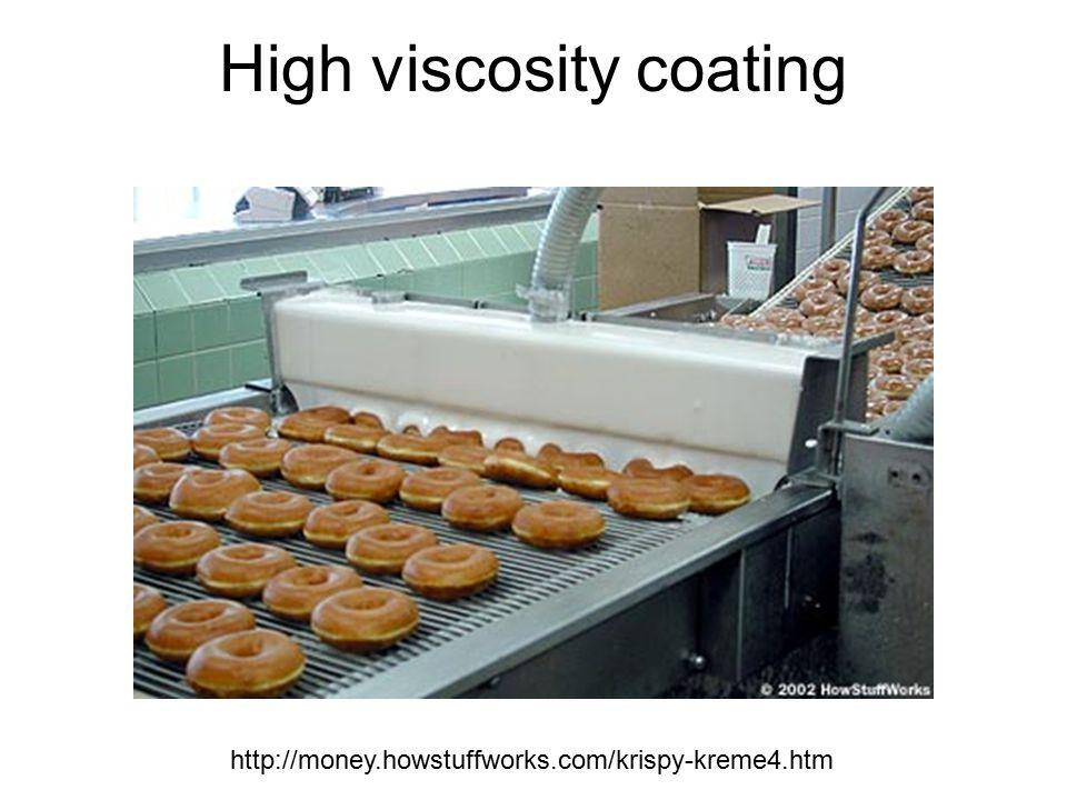 High viscosity coating http://money.howstuffworks.com/krispy-kreme4.htm