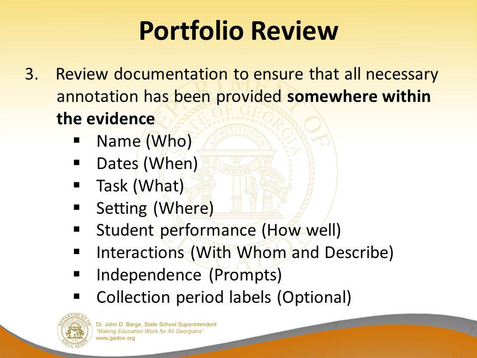 Portfolio Review 3.