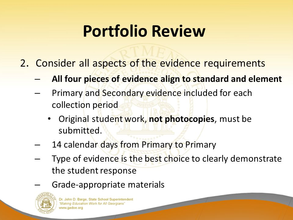 Portfolio Review 2.
