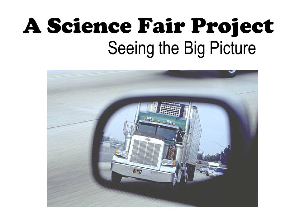 A Science Fair Project Seeing the Big Picture