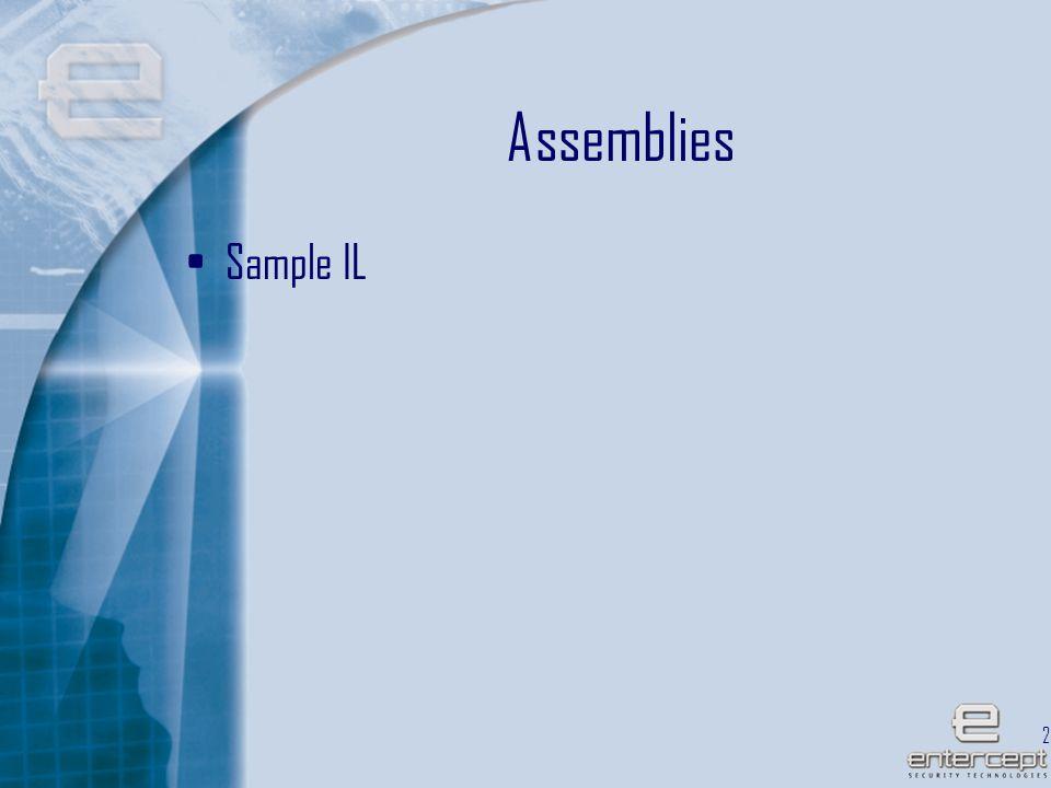 25 Assemblies Sample IL