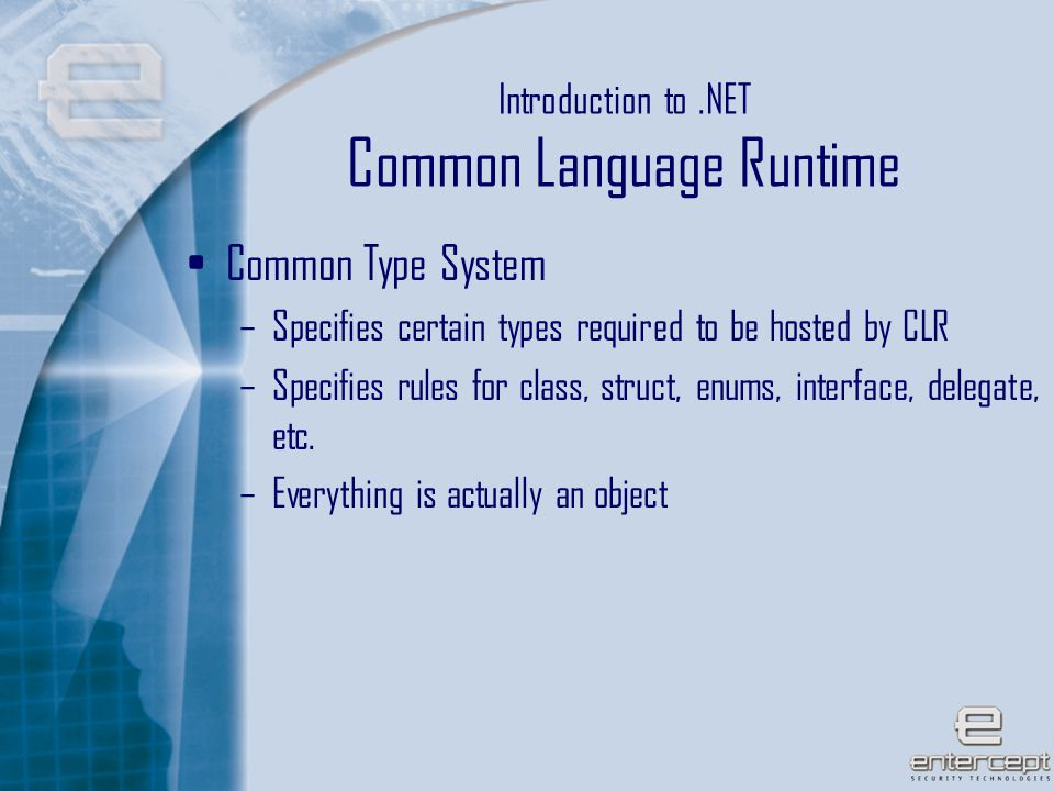 29 Microsoft's.NET Implementation File locations System libraries.NET application flow
