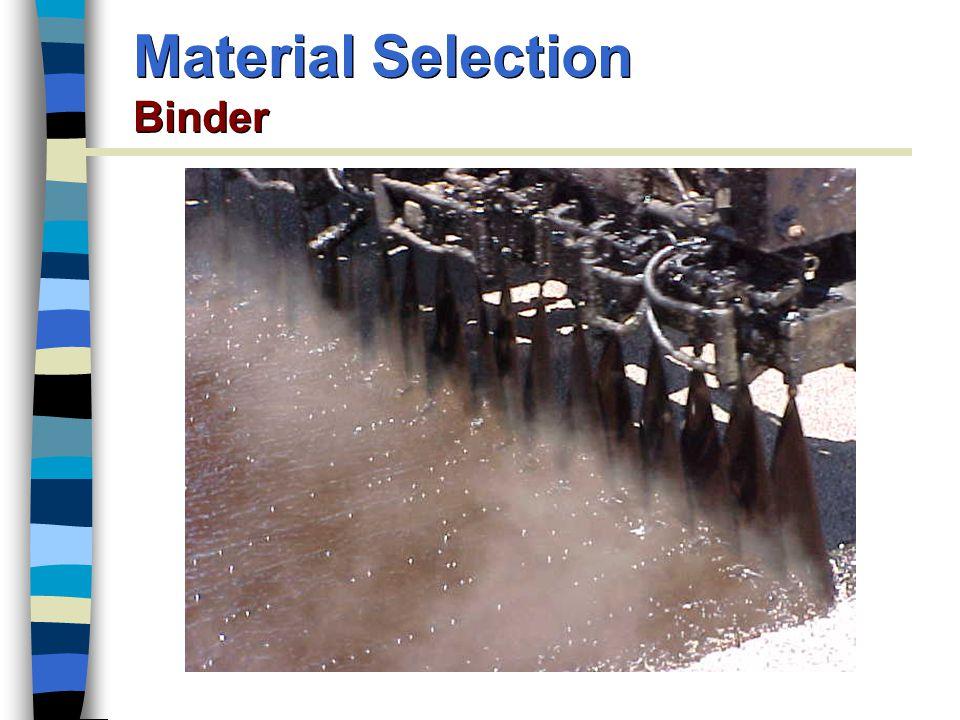 Material Selection Binder