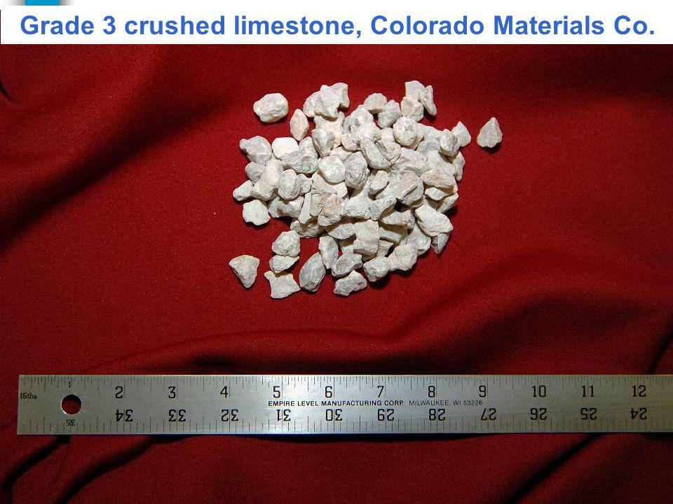 Grade 3 crushed limestone, Colorado Materials Co.