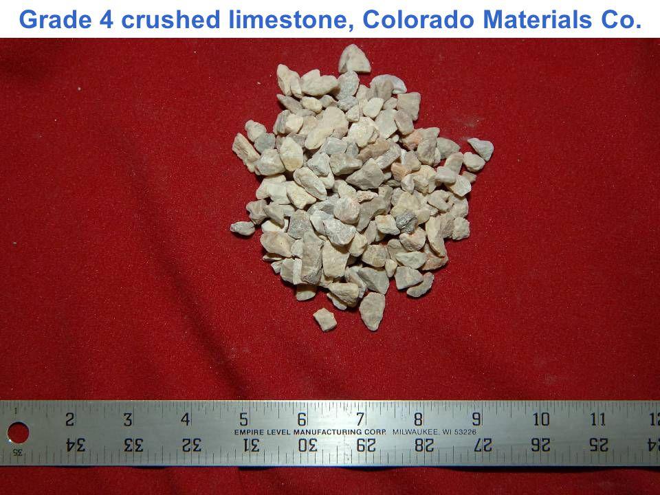 Grade 4 crushed limestone, Colorado Materials Co.