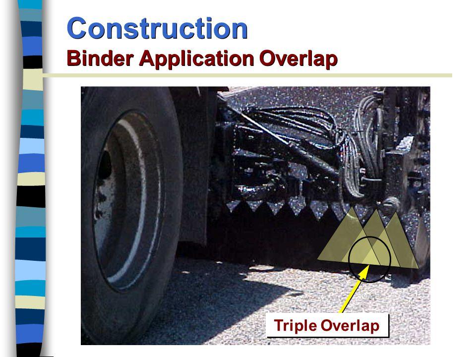 Construction Binder Application Overlap Triple Overlap