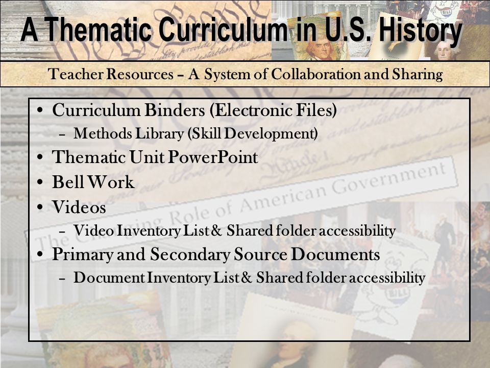 Student Resources: Pacing Guide and Objectives Provides students content, essential questions and learning objectives for each thematic unit.