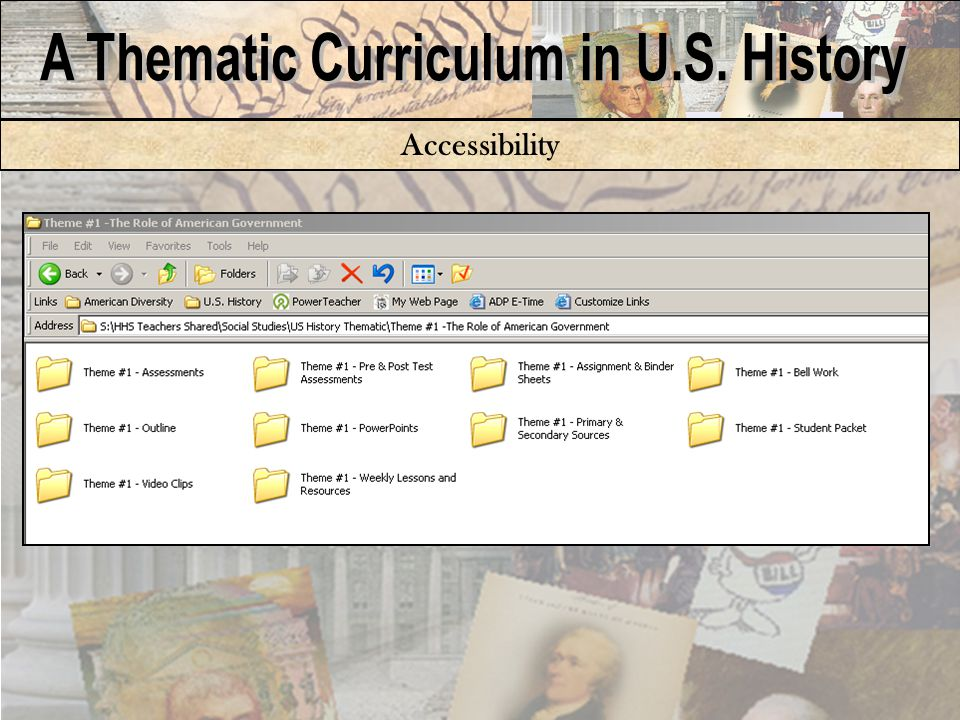 Curriculum Binder and Methods Library –