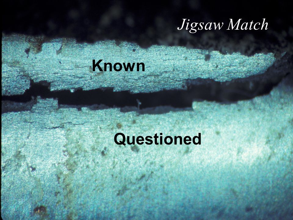Questioned Known Jigsaw Match