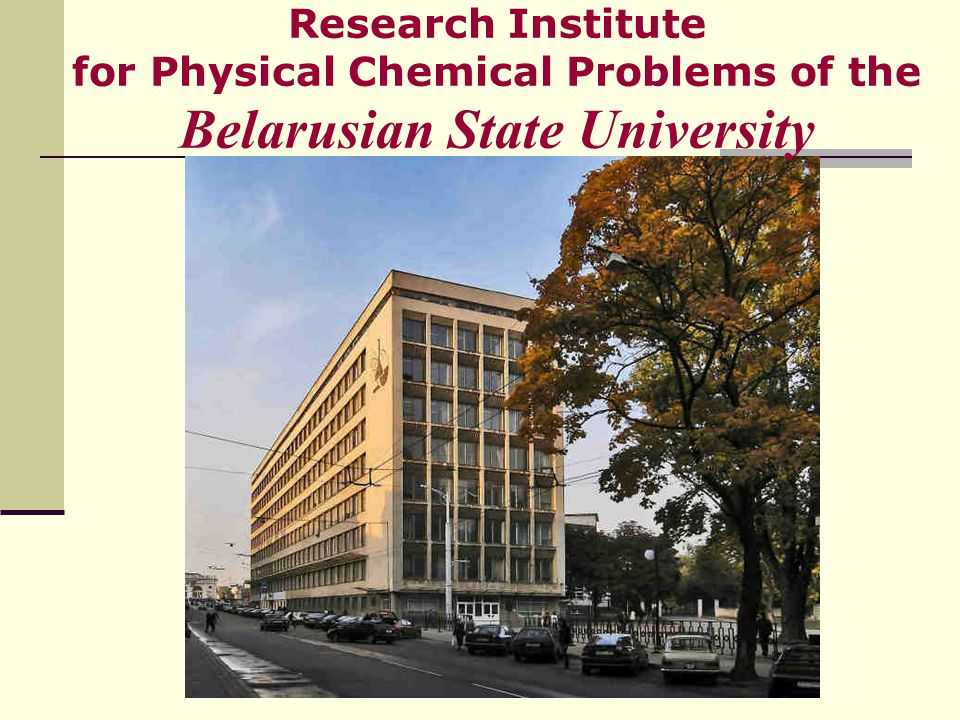 Research Institute for Physical Chemical Problems of the Belarusian State University