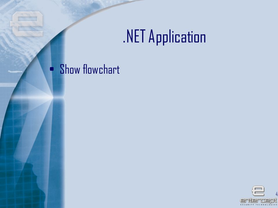 45.NET Application Show flowchart