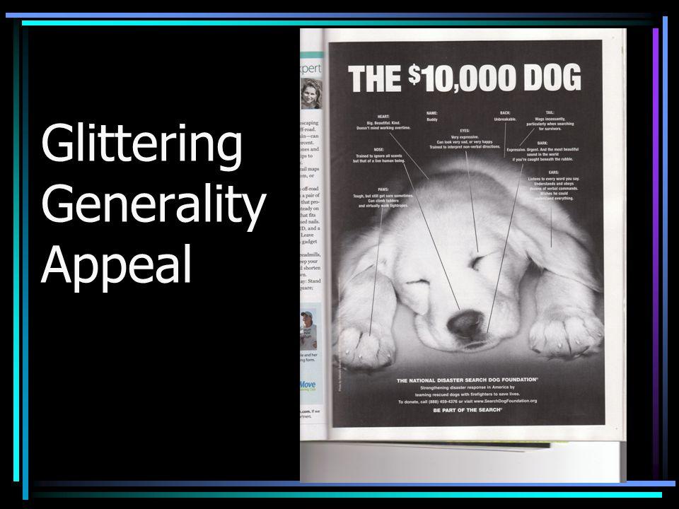 Glittering Generality Appeal
