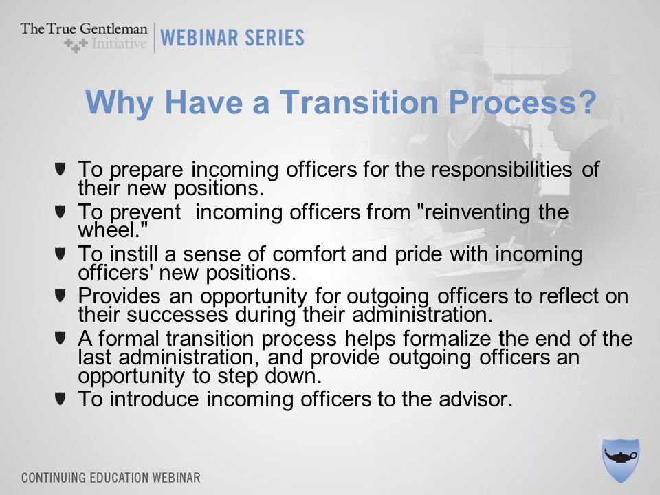 Common Pitfalls Disorganization –Especially relying on old/new officers to meet on their own.