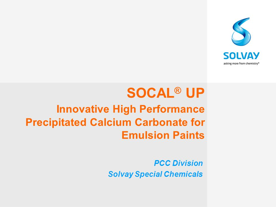 12 Socal ® UP: TiO 2 Replacement in Premium Paints Socal ® UP can substitute up to 50 % TiO 2 in Premium quality Paint with the same Dry Opacity performance
