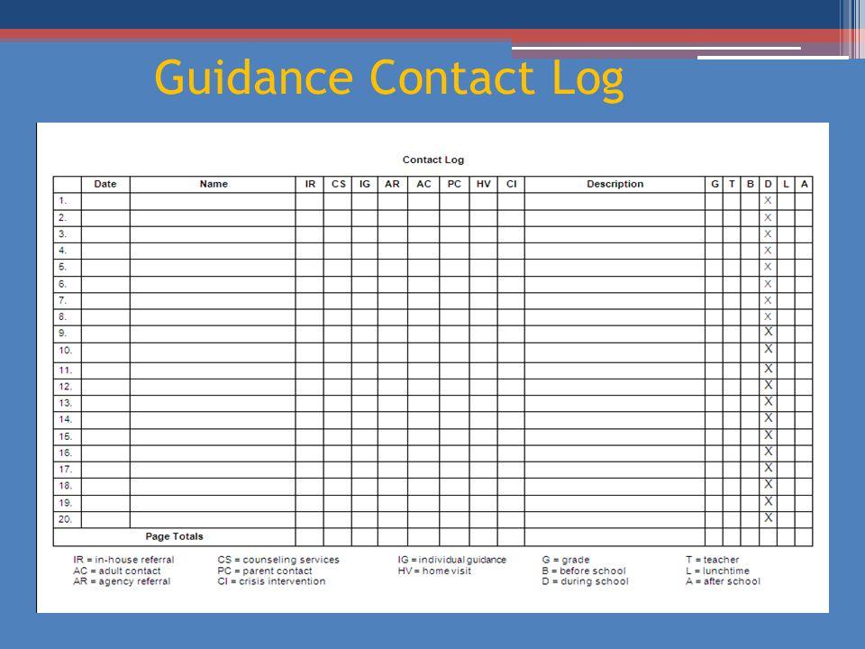 Guidance Contact Log