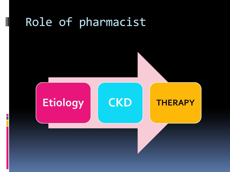 Role of pharmacist Etiology CKD THERAPY