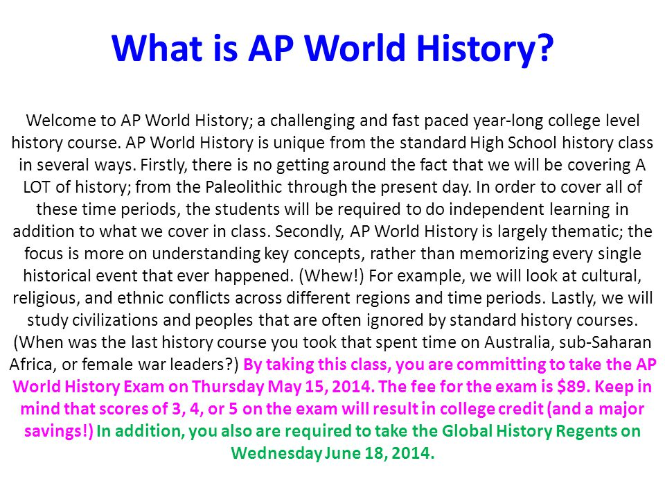 world history ap dbq essay Ap around the world the ap world history course and exam description and practice exam have been updated to reflect changes to the wording of the long essay.
