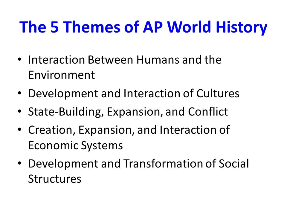 Historical Periods and Key Concepts Period 1: Technological and Environmental Transformations, to c.