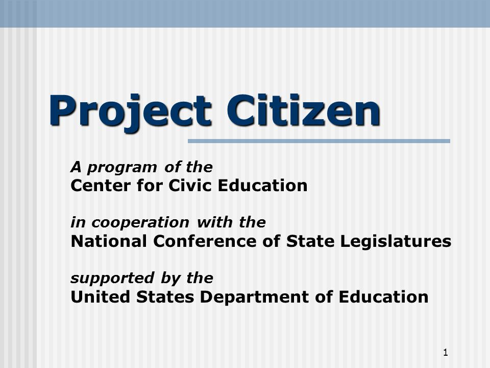 2 What is Project Citizen.
