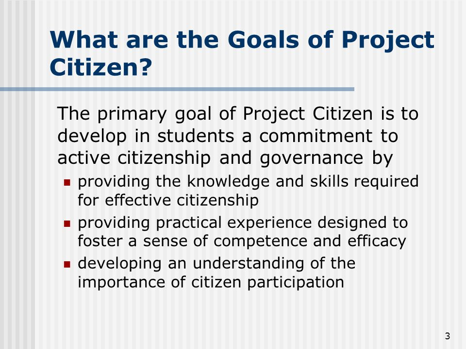 4 What are the Educational Outcomes of Project Citizen.