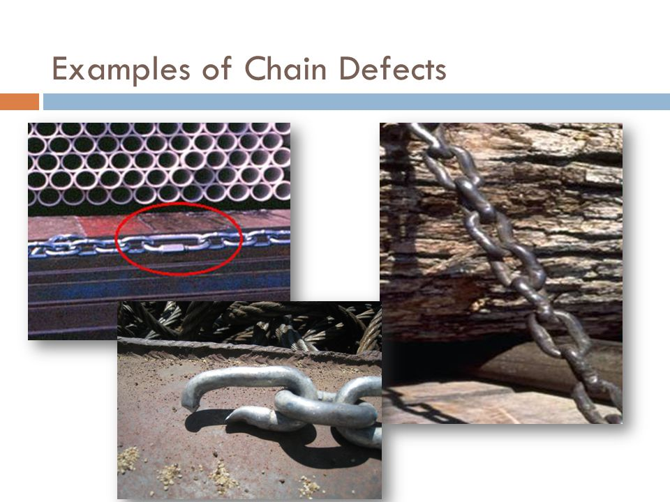 Examples of Chain Defects