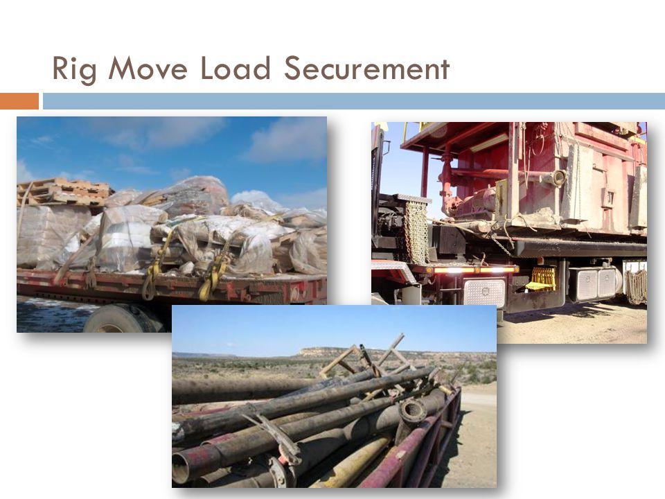 Rig Move Load Securement