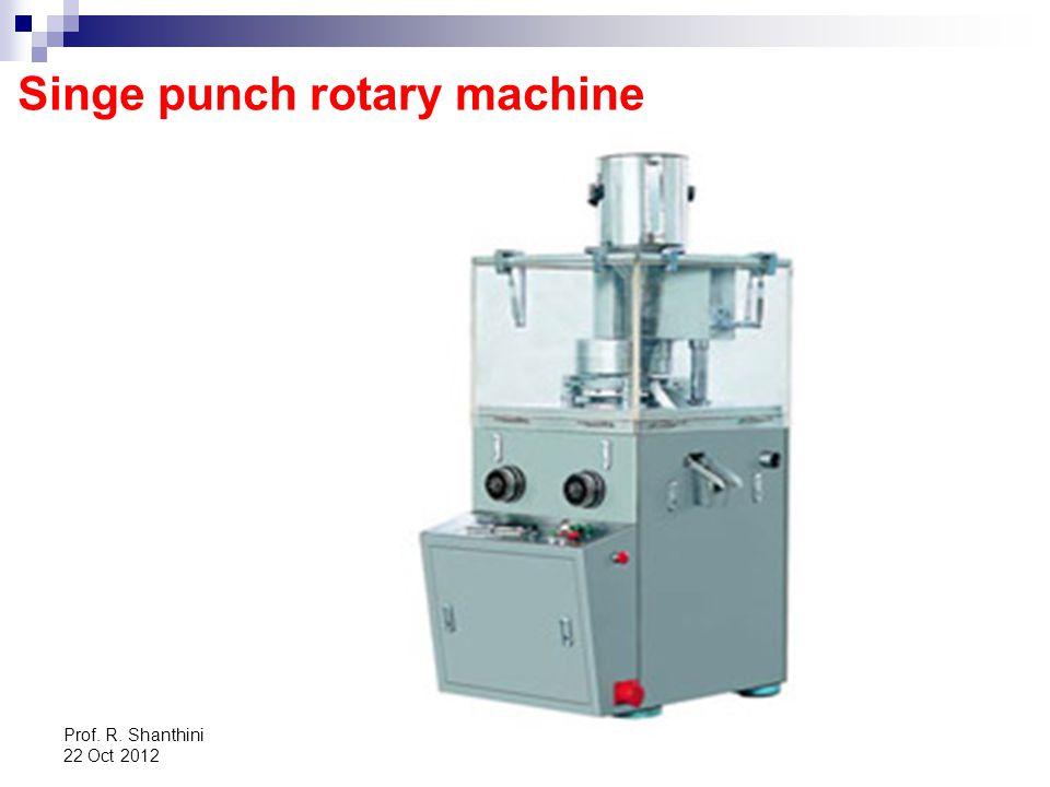 Prof. R. Shanthini 22 Oct 2012 Singe punch rotary machine