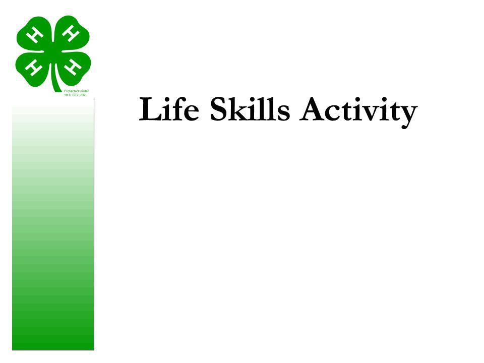 Life Skills Activity