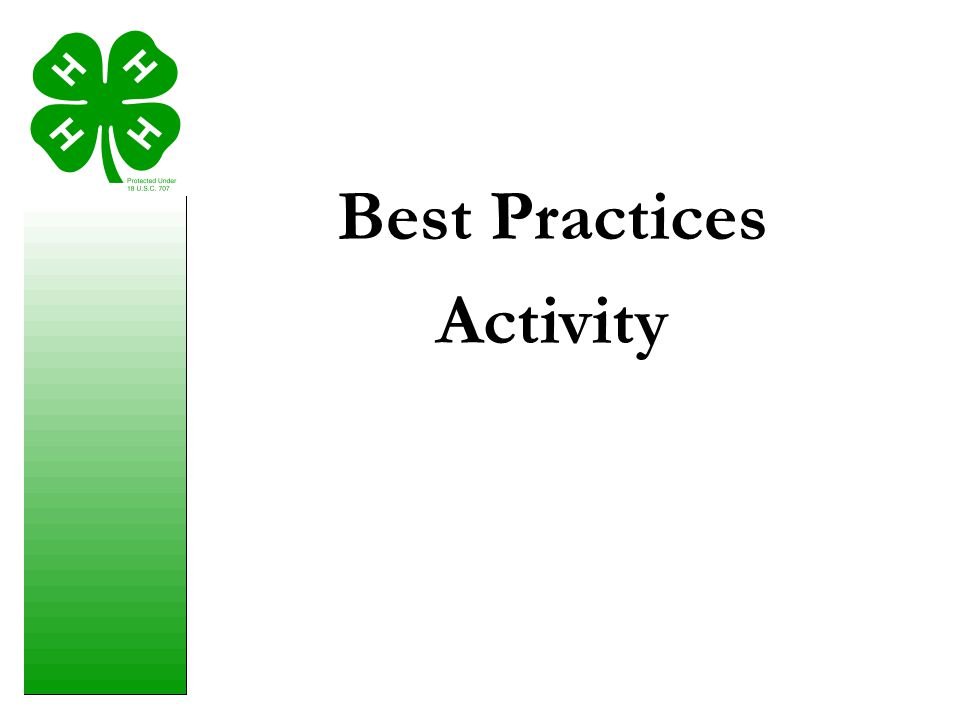 Best Practices Activity