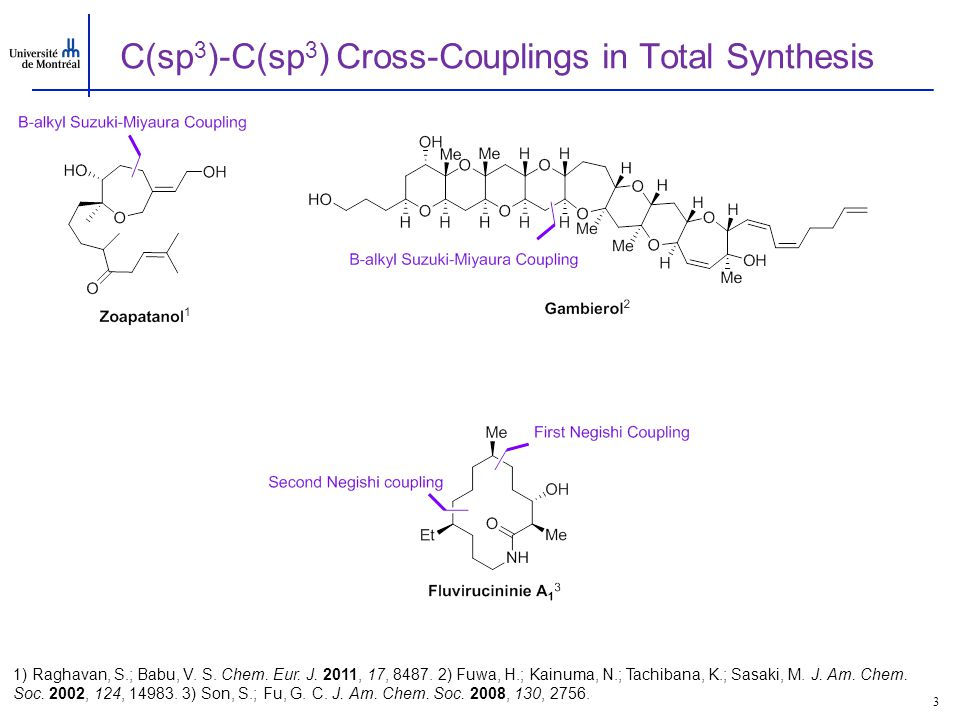 Examples of asymmetric Cross-Coupling with Alkylzinc Reagents 4 1) Fisher, C; Fu, G.