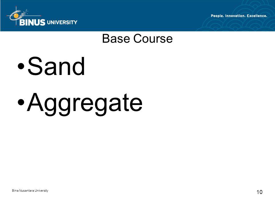 Bina Nusantara University 10 Base Course Sand Aggregate