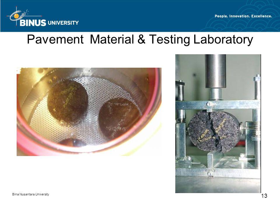 Bina Nusantara University 13 Pavement Material & Testing Laboratory