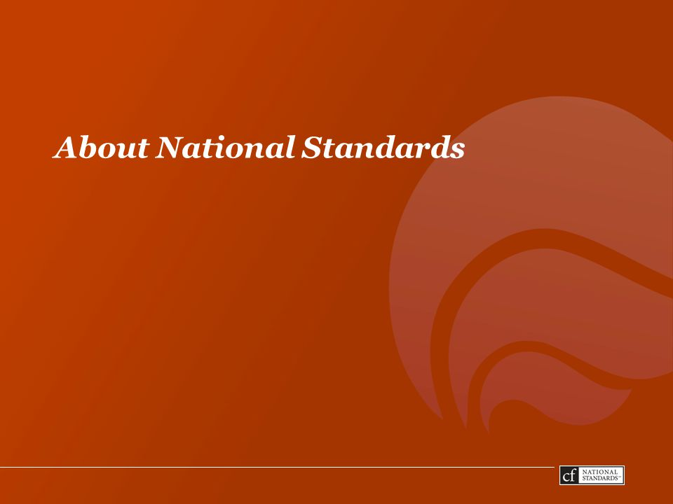 About National Standards