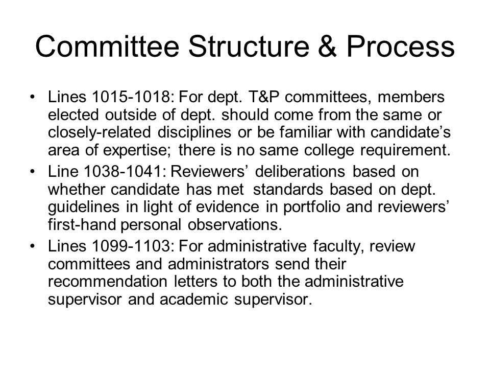 Post-Tenure Review Process Lines 1188-1191: Faculty up for PTR submit Binder 1.