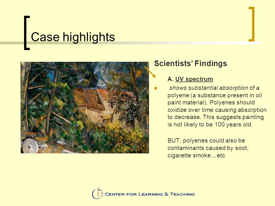 Case highlights Scientists' Findings A.