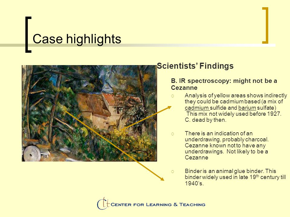 Case highlights Scientists' Findings B.