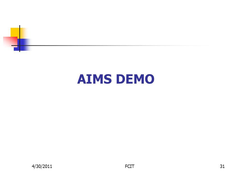AIMS DEMO 4/30/2011FCIT31