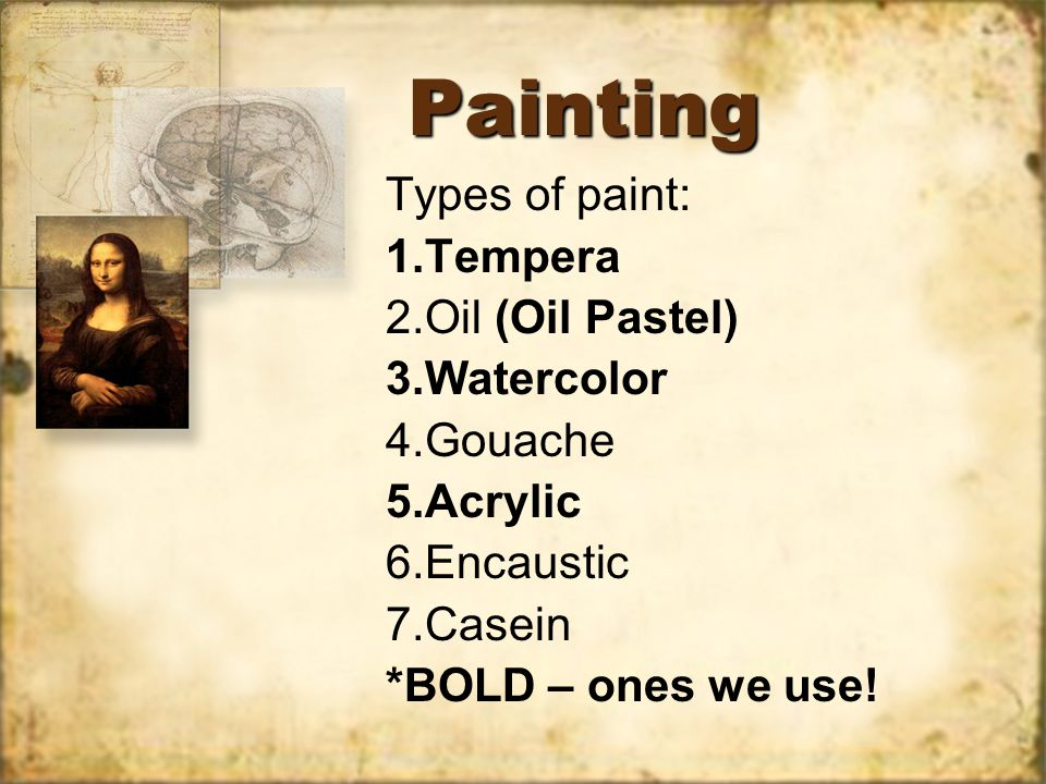 Paper Acrylic Paper Watercolor Paper –Artists' grade –Students' grade Bark papers (Homemade) Acrylic Paper Watercolor Paper –Artists' grade –Students' grade Bark papers (Homemade) PROS: Durable & Strong.