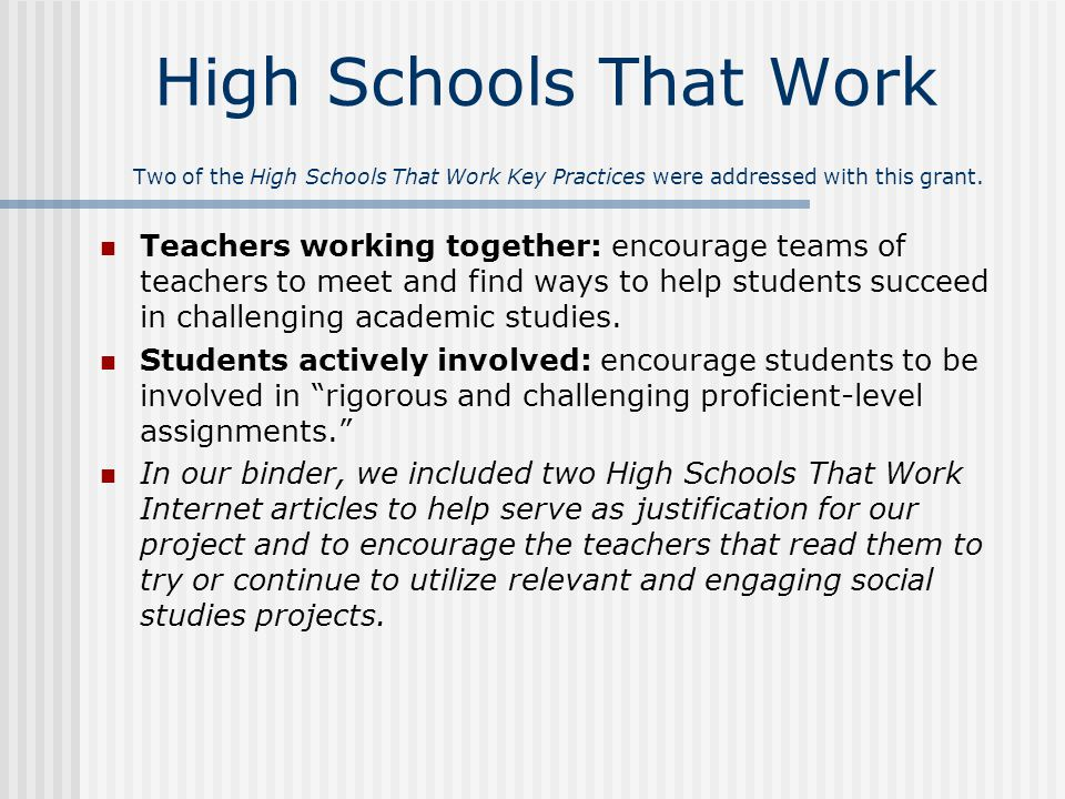 Project Aims 1.Increase standardized test scores and the overall rating of the district 2.