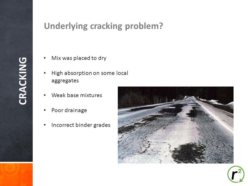 CRACKING Underlying cracking problem.