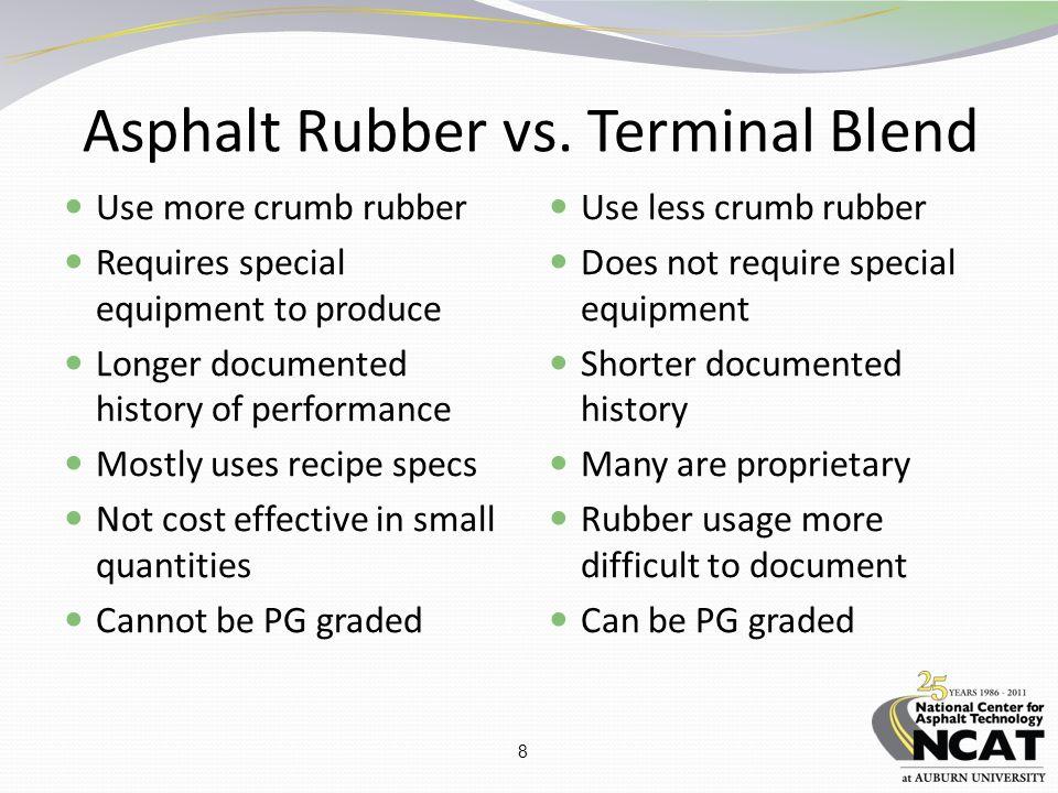 8 Asphalt Rubber vs.