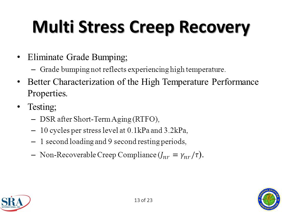 13 of 23 Multi Stress Creep Recovery